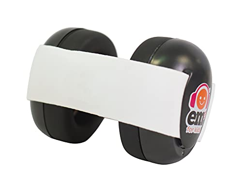 Ems for Kids Baby Earmuffs - Black with White Headband. Made in The...