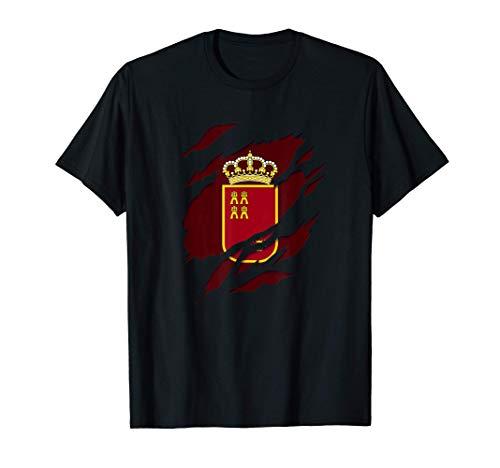 Murcia Bandera y Escudo de Armas Camiseta