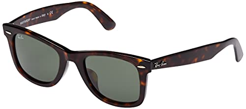 Ray-Ban Original Wayfarer Classic Gafas de Sol, Marrón (Tortoise Frame with Green G/15 Lenses), 54.0 Unisex Adulto