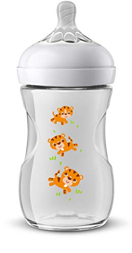 Philips Avent SCF070/20 - Biberón natural de 260 ml, safari tigres