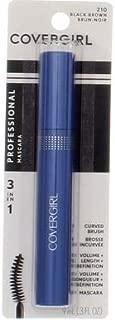 CoverGirl Professional 3 in 1 Curved Brush Black Brown Mascara -- 3 per case.