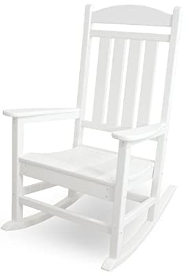 POLYWOOD R100WH Presidential Rocking Chair, White