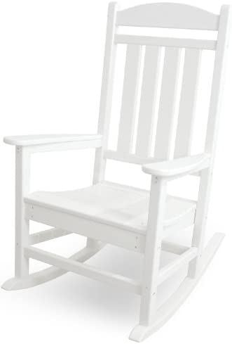 Best POLYWOOD R100WH Presidential Rocking Chair, White