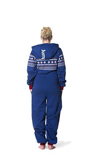 Jumpster Damen und Herren Jumpsuit Langer Overall Alpaka Slim Fit Blau - 2