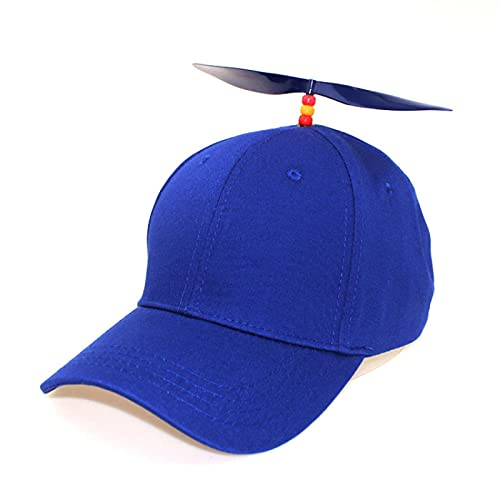 WAZHX Sombrero De Hélice Desmontable para Parejas De Otoño/Invierno Sombrilla Y Protector Solar Gorra De Béisbol De Libélula De Bambú Monocromática Gorra Azul Ajustable, Hélice Azul