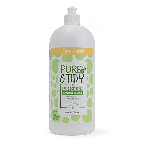 Pure & Tidy Oxy-Powered Urine Destroyer   Citrus Scented Carpet Cleaner and Pet Odor Eliminator   Safe and Non-Toxic Carpet Cleaner, Stain and Odor Urine Remover for Pets