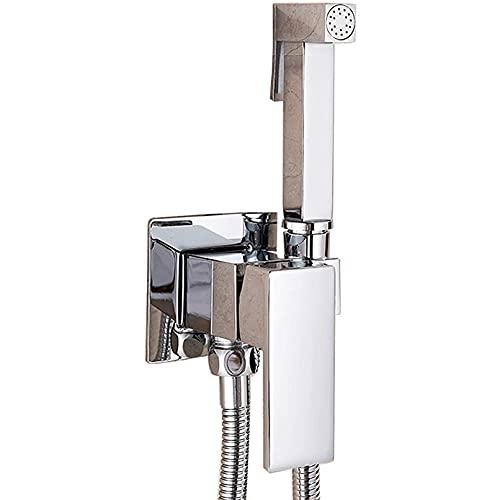 CXSMKP Aseo Bidet Faucet Sólido de latón Mano de bidé Pulverizador Pulverizador Faucet Hot Hot Water Mixer Tap Mount Hygienic Ducha Set