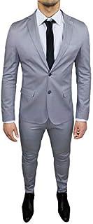 43a48fafd8c9c FB CLASS Costume Homme Complet Coton Gris Clair ÉtéÉlégant Formel Cérémonie