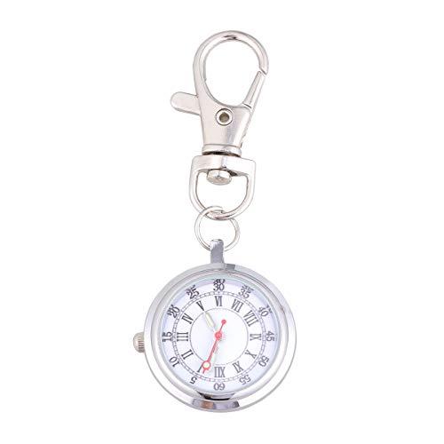 UKCOCO Sjuksköterska Klocka Nyckelring Fickur Kvartsur Stort antal klockor för barn Mäns par (romerska nummer och arabiska siffror)