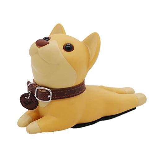 VOSAREA Türkeil Hund Form Gummi Keil Türstopper/Fensterstopper Türanschlag Protektor für Baby Kinder Kleinkinder Haustier (Khaki)