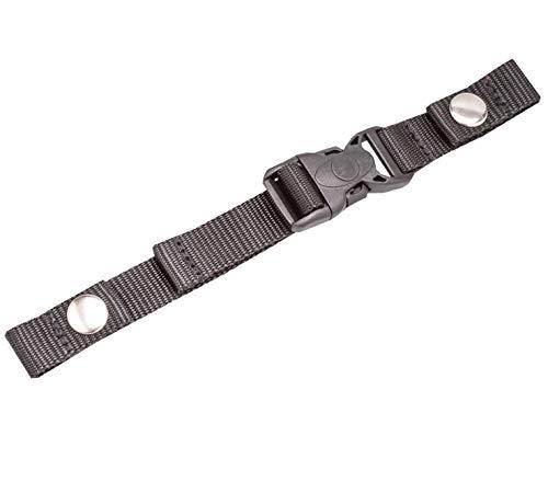 Belmil Zubehör Brustgurt für Schulranzen Verstellbarer Kompatibel mit den Schulranzen Modellen: 403-13, 405-30 (334 Schwarz)