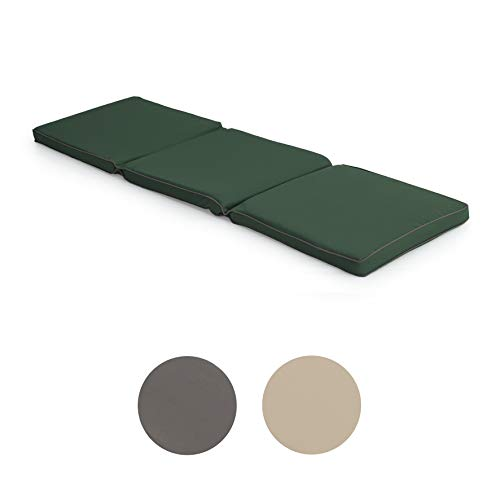Gardenista Bench Seat Pad 4 Seater | Water Resistant Cushion For Dining Outdoor Use | 170cm x 52cm x 5cm Foldable for Easy Storage | Ultra Comfy & Durable (Green)