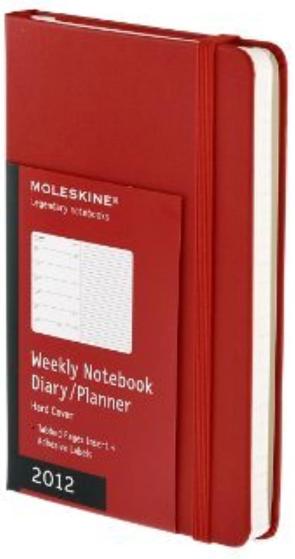 2012 Weekly 12-Month Planner Notebook Hard rot Pocket  Moleskine Code DHR12WN2RE by Moleskine (July 01,2011) B01B98F3GW  | Garantiere Qualität und Quantität