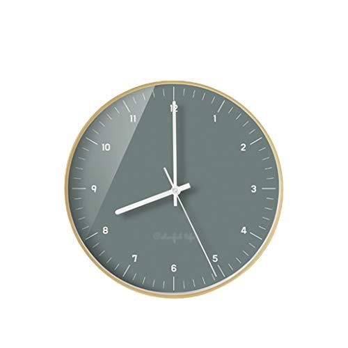 Art wall-clock XZGang Wanduhr, Metallrahmen PVC Dial Wanduhr Florist Wanduhr Schlaf Wanduhr Moderne Wanduhr -Dekorate Ort des Lebens (Color : N, Size : 30.5 * 30.5CM)