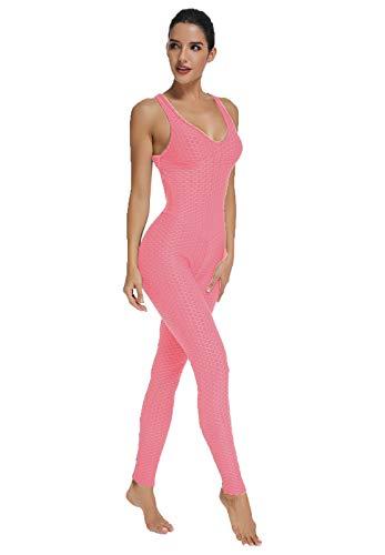 FITTOO Tuta Sportiva da Donna Leggings Slim Abbigliamento Sportivo Pantaloni da Yoga Vita Alta Anti-Cellulite Sexy per Fitness Sport Palestra Yoga Jumpsuit