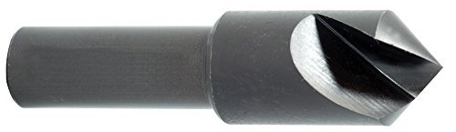 Morse Cutting Tools 25573 Single Flute Countersink, High-Speed Steel, Black Oxide Finish, 90 Degree Point, 1/4