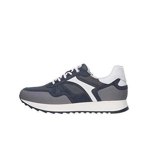 Nero Giardini E001502U Sneakers Uomo in Pelle, Camoscio E Tela - Incanto 41 EU