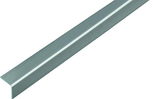 GAH-Alberts 432959 Winkelprofil | selbstklebend | Kunststoff, Edelstahloptik | 1000 x 20 x 20 mm