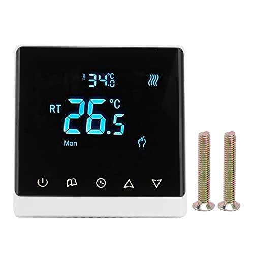 Accesorios para termostatos domésticos, AC220V 5 ℃ -35 ℃ Controlador de temperatura Termostato de aire acondicionado para sala de estar, dormitorio, comedor, pasillo