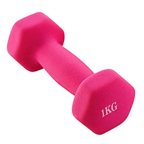 Ningque Hantel, zufällige Farbe, Neopren und gefrostet, 1 Stück Hantelgewichte Home Gym Fitness Hantel 1 kg / 1,5 kg / 2 kg, Gewichtheben Hantel für Damen Kinder Arm Handgewichte Pilates, 1 Stück