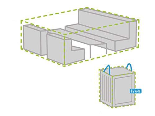 Housse de protection M 240 x 180 cm pour salon de jardin + housse pour 6-8 coussins