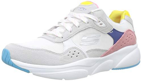 Skechers Damen Meridian-no Worries Sneaker, Weiß (White Multi Wmlt), 40 EU