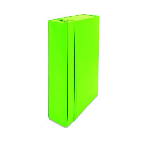 euro-cart IRIS Cartella Portaprogetti con Elastico Piatto, Dorso 5 cm, Verde Lime
