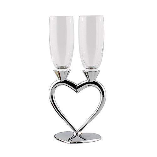 CHUTD Verres à vin Rouge 2 Pcs/Lot Champagne gobelet verrerie Verre à vin jus Boisson Cocktail Mariage Application décor Domestique Anniversaires Cadeau