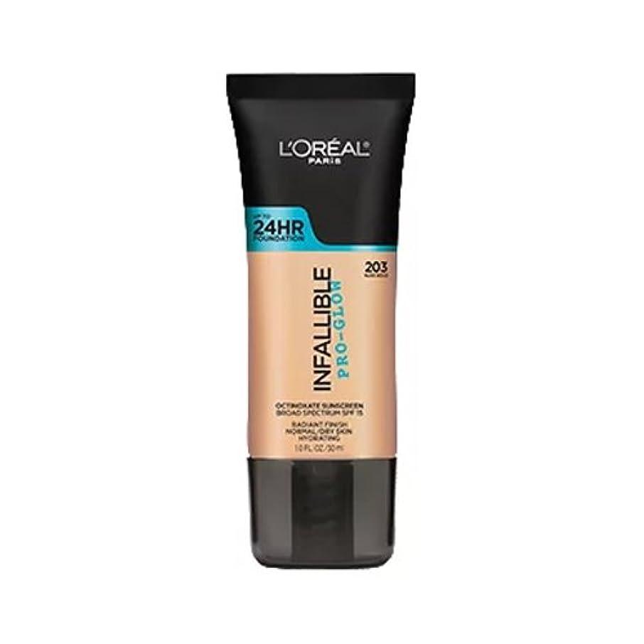 鼓舞する舗装収入(3 Pack) L'OREAL Infallible Pro-Glow Foundation - Nude Beige (並行輸入品)