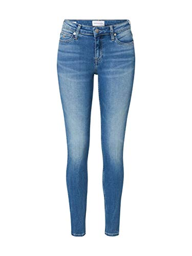 Calvin Klein Ckj 001 Super Skinny Jeans Straight, Blu (DA048 Light Blue 1AA),...