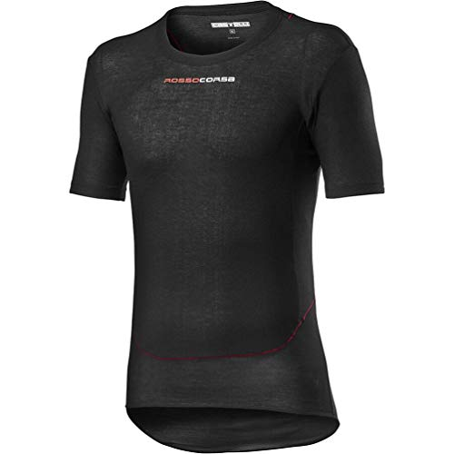 CASTELLI Herren Prosecco TECH Short Sleeve T-Shirt, schwarz, X-Small