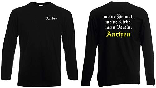 world-of-shirt / Aachen Herren Longsleeve Meine Heimat, Mein Verein