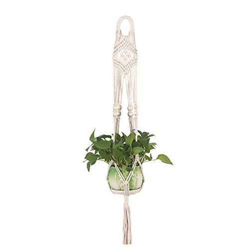AOPEI Planta Colgante de Pared Soporte de Flores Cuerda de algodón Colgando Bolsa de Red de Plantas Verdes para la Tienda de jardín en casa