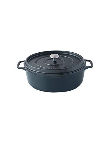 Invicta Cocotte Ovale - 33 cm - Fonte Emaillée - Noire
