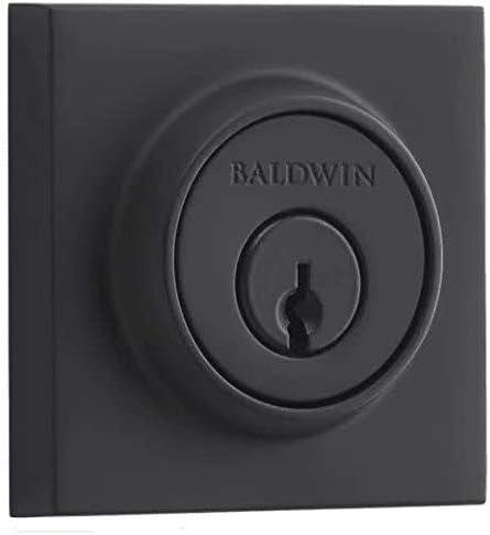 discount Baldwin high quality SCCSD190 Contemporary Single new arrival Cylinder Deadbolt, Satin Black sale