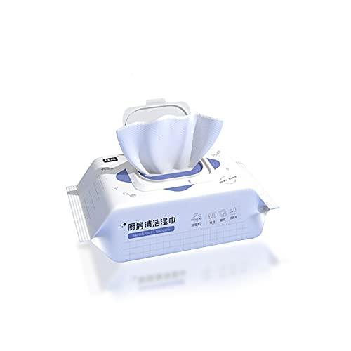 AnyCar 1 paquete de toallitas de limpieza de cocina, toallitas desechables para eliminar manchas súper capacidad de limpieza, removedor de aceite, toallitas húmedas para la cocina del hogar, (2)