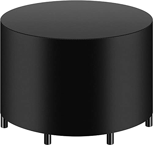 Set di coperture per mobili da terrazzo, per esterni, impermeabili, resistenti alle alte prestazioni (nero) (190 x 71 cm (74,80' D x 27,95' H))