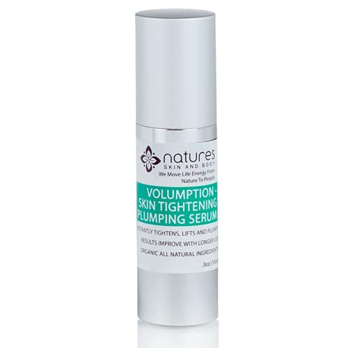 Volumption Skin Tightening Serum - Organic Deep Lip Line Filler, Tightener, Face and Neck Plumping, Blurring Facial Dark Spots, Lessens Fine Lines, Repairs Wrinkles Around The Mouth - 1 Oz