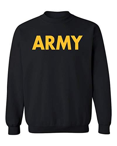 US Military Gear Army Training PT Crewneck Sweatshirt, 2XL, Black