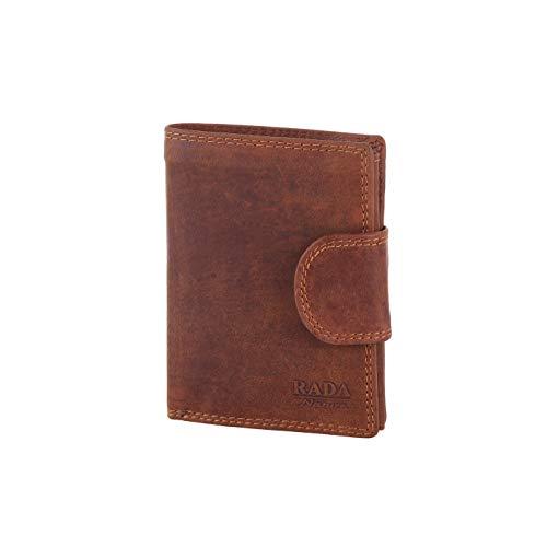 Rada Nature Geldbeutel für Herren mit viel Platz aus echtem hochwertigem Leder, großes Portemonnaie, Geldbörse mit insg. 13 Steckfächer, Münzfach und Reißverschlussfach