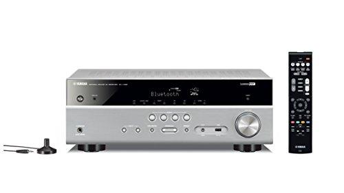 Yamaha AV-Receiver RX-V385 MC titan – Hochwertiger Mehrkanal-Receiver mit kraftvollem 5.1 Surround-Sound - ideal für das eigene Heimkinosystem – Kompatibel mit 4K Ultra HD