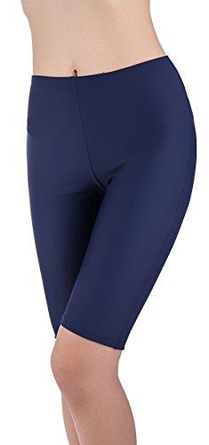 SHEKINI Dames Effen kleur Zwembroeken Klassiek Hoge Elasticiteit Bikini Broekjes Yoga Broek