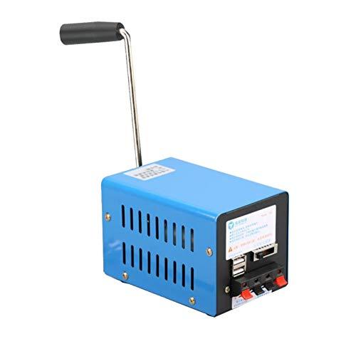 Handkurbelgenerator, Generatoren für den Heimgebrauch, tragbarer Kurbelgenerator Multifunktions-Hand-USB-Generator Kurbel-Notfall-USB-Ladegenerator für Camping Outdoor Survival, Blau