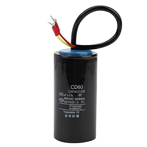 Condensador de arranque de motor de 450V 300uf Condensador electrolítico para bomba de agua con generador CD60