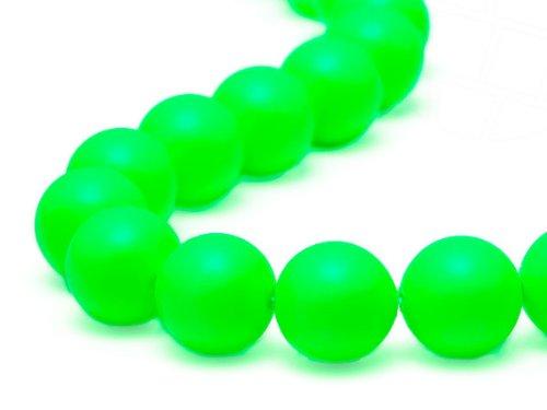 gogoritas Crystal Beads of Swarovski Elements 6mm (Crystal Neon Green), 100 Pieces