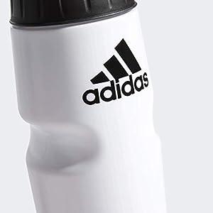 adidas Unisex Squeeze 750 Plastic Bottle, White/Black, ONE SIZE