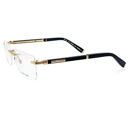 ZILLI 60031 C04 Eyeglasses for Men Rimless Titanium Eyewear Acetate Frame