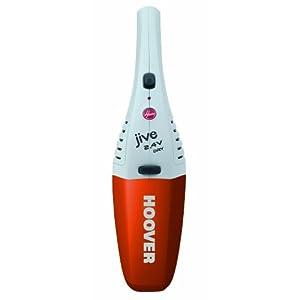 Hoover JIVE SJ24DWO6 Dry – Aspirador de mano para sólidos, 2.5 V de potencia, 0.3 litros de capacidad, color blanco y naranja