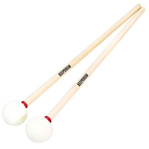 Keepdrum FT7 - Pala de pauta suave Timpani Mallets (35 mm, 1 par)