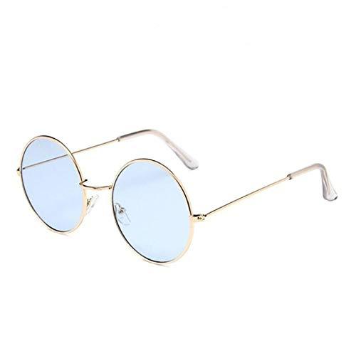 Gafas de Sol Sunglasses Burst Metal Circular Moda Lentes Marinos Gafas De Sol Rojas Mujeres Diseñador Personalidad Multicolor Prince Mirror Uv400 No.3
